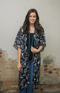 Cowskull chiffon duster. Too cute to pass up!