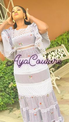 African Lace Dresses, Latest African Fashion Dresses, African Print Fashion, African Attire, African Wear, African Outfits, Beautiful Maxi Dresses, Elegant Dresses, Aya Couture