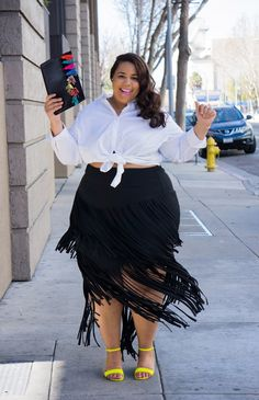 Click through the most stylish plus-size fashion bloggers for serious street style inspiration at @stylecaster | 'Garner Style'