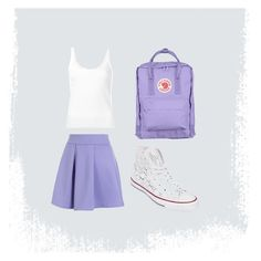 """""""Outfit for my story 21"""" by canehdiengirl on Polyvore featuring Chicwish, CITYSHOP, Converse and Fjällräven"""