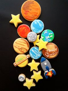 Solar System Cookies Solar system Solar and Shortbread