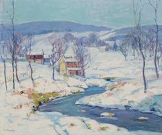 """""""Landscape in Winter"""" Fern Isabel Coppedge, oil on canvas, 20 x 24"""", private collection."""
