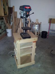 Drill Press Stand | The Woodwork Geek