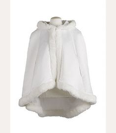 Flower Girl Cape with Faux Fur Trim