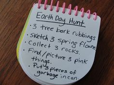 Earth Day Scavenger Hunt for kids - easy and educational