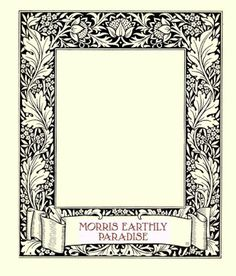 Free label for Morris Earthly Paradise quilt from MATERIAL CULTURE