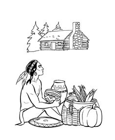 Farm Work and Chores coloring page Chase the pigs colouring