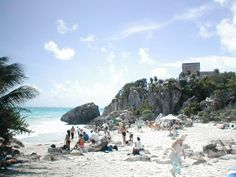 Talum, Mexico (2004): Awesome beach next to Mayan ruins.  Worth the drive from Cancun to go see it all.