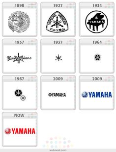 25 Famous Company Logo Evolution Graphics for your inpsiration Apple Logo Evolution, Yamaha Logo, Pepsi Logo, Famous Logos, Famous Brands, Logo Process, Brand Icon, Brand Guidelines, Identity