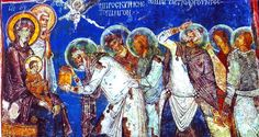 Still proclaiming the Nativity after more than 800 years: This fresco of a traditional Orthodox icon survives on the wall of an ancient church in Cappadocia in what is now central Turkey. This Adoration of the Magi is among the most popular Nativity images