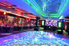 Bar Mitzvah High-Tech Intelligent LED Lighting - Amazing Dance Floor {Ira Rosen Photography, Gala Event and Food Artistry NY} - mazelmoments.com
