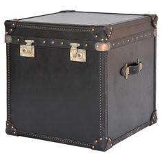 London Leather Trunk Table