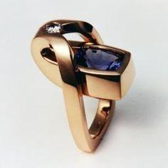 Tanzanite Ring with Diamond