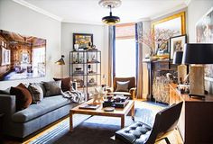 Dreamy Harlem apartment in dark colors