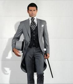 Light Grey Men Suit Tailcoat Wedding Suit for Men Terno Masculino Kyptkn Groom Suit Groomsmen Tuxedos Business Suit M378