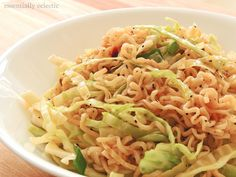 Asian Ramen Noodle Cabbage Salad by Essentially Eclectic