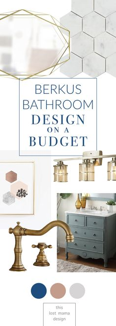 Berkus Design Interiors on a budget. If you're looking to renovate your bathroom, this post has some seriously good resources!! Check it out! #interiors #design #homedecor #homereno #renovate