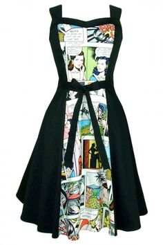Women's Pinup Comic Full Circle Dress