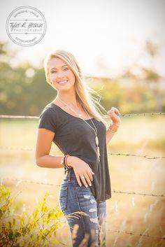 - Heritage High School - Senior Portraits - Frisco, Texas - Summer - Senior Model Rep - Ideas for Girls - Casual - Senior Pictures - Country - #seniorportraits - Photo Shoot - Stunning - #seniorpics - Tyler R. Brown Photography
