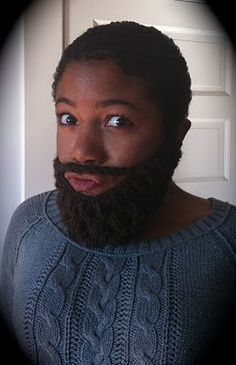 a knit beard, you can dress it up or down...