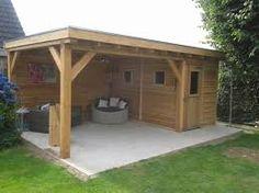 overkapping schuur - Google zoeken Backyard Bar, Backyard Patio Designs, Outdoor Garden Rooms, Gazebo, Pergola, Pool Shed, Outside Bars, Garden Projects, Home And Garden