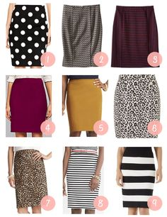 Putting Me Together: Fall Shopping: Fun Pencil Skirts for Fall