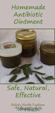 No more unpronounceable chemicals on your skin! Homemade antibiotic ointment is completely natural and works like a charm.