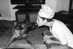 Famous people (Eva Mendes) + Dogs