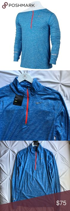 Nike Men's 1/2 Half Zip Element Shirt Nike Men's 1/2 Half Zip Element Shirt  Nike Dry fabric with Dri-FIT technology helps you stay dry and comfortable. Half-zip design offers adaptable coverage. Thumbholes follow the shape of your hand for a comfortable fit. Reflective details enhance visibility in low-light conditions.  NWT Retail Price $85   No trades  Same or next business day shipping!  ✨ Open to reasonable offers  Bundle to save on shipping Nike Sweaters