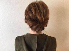 頑張らない休日にぴったり!簡単&可愛い♪こなれヘアアレンジ - Yahoo! BEAUTY Party Hairstyles, Wedding Hairstyles, Loose Buns, Medium Hair Styles, Long Hair Styles, Forest Color, Hair Arrange, Yukata, Updos