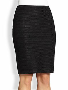 St. John Domino Knit Pencil Skirt
