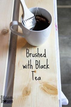 Looking for an all natural wood stain method? If you want a gorgeous aged wood stain without the pricetag and hassle of classic wood staining, this inexpensive option is perfect for you! DIY this look with some tea, steel wool, and a little bit of patience for a gorgeous result.