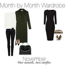 Month by Month Wardrobe - November by charlotte-mcfarlane on Polyvore featuring Victoria Beckham, Nina Ricci, Paige Denim, Christian Louboutin, Schutz, Fendi and Chanel