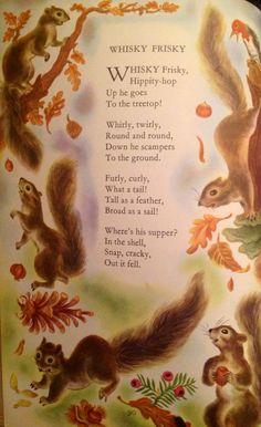 One of my favorites from childhood Nursery Rhymes Poems, Rhymes Songs, Poetry For Kids, Rhymes For Kids, Children Rhymes, Kids Poems, Vintage Children's Books, Children's Literature, Children's Book Illustration