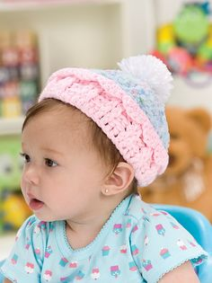 Sweet Crocheted Cupcake Hat: free pattern