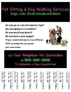 Dog walking, Flyers and Flyer template on Pinterest Start Your Own Small Business With Professional Business Forms And Support - Pet Sitting/Dog Walking Flyer