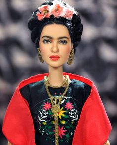#OOAK #BARBIE #repaint of #Frida #Kahlo by http://ncruz.com  up for #eBay #Auction at https://www.ebay.com/usr/ncruz_doll_art … if you are a fan and like this collectible bid now or forever hold your brush! #artist #mexican #icon #art #paint