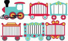 Circus Train Cutouts