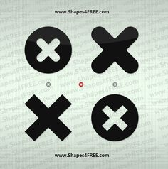 Cross Icons Photoshop Shapes