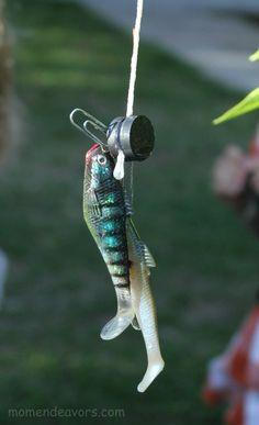 DIY fishing activity for kids {tutorial}