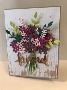 Beautiful Bouquet by terrial – Cards and Paper Crafts at Splitcoaststampers – Scrapbooking Making Greeting Cards, Greeting Cards Handmade, Flower Cards, Paper Flowers, Friendship Cards, Friend Friendship, Stamping Up Cards, Pretty Cards, Creative Cards
