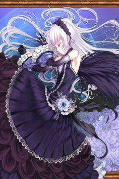 anime beauty- looks like that evil girl from Rozen Maiden. Dark Anime, Anime Sexy, Gothic Anime, Manga Girl, Manga Anime, Anime Art, Anime Style, Anime Angel Girl, Anime Girls