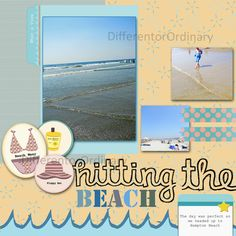 Digital Scrapbook Layout that I want to attempt on paper