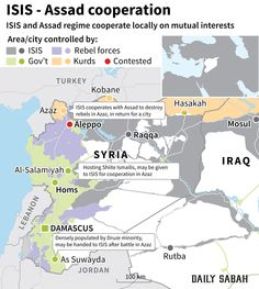 ISIS and Assad coope