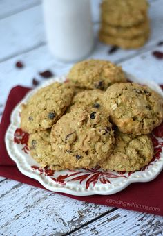 Cranberry White Chocolate Oatmeal Cookies  cookingwithcurls.com #QuakerOats