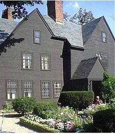 "Halfway down a by-street of one of our New England towns stands a rusty wooden house, with seven acutely peaked gables, facing towards various points of the compass, and a huge, clustered chimney in the midst ~ Nathaniel Hawthorne, ""The House of the Seven Gables"""