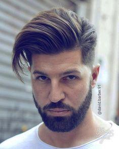 hair and beard styles Nice ? Mens Hairstyles With Beard, Cool Hairstyles For Men, Hairstyles Haircuts, Haircuts For Men, Beard Styles For Men, Hair And Beard Styles, Medium Hair Styles, Short Hair Styles, Gents Hair Style