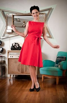 Elly dress red style