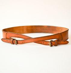 vintage leather riding belt