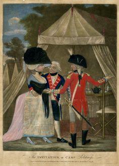 The Invitation, or Camp Politeness, Oct 1781, British Museum, 2010, 7081.1171